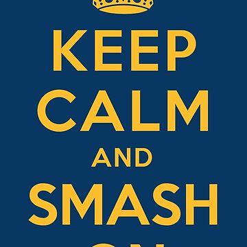 Nashville Predators - Keep Calm (gold on blue) by joshunter
