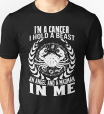 I'm Cancer Hold Beast, Angel And Madman In Me T-Shirt