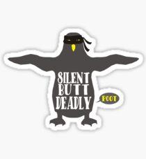 Funny animal penguin ninja silent but deadly fart Sticker