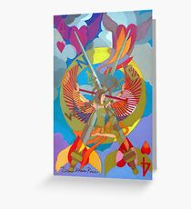 On the Four Winds Does My Heart Fly Greeting Card