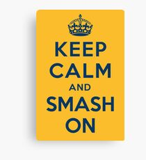 Nashville Predators - Keep Calm (blue on gold) Canvas Print