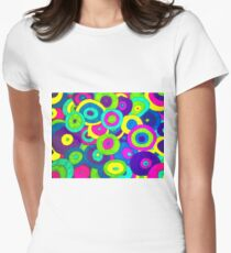 Crazy Psychedelic Retro Design!!! Womens Fitted T-Shirt
