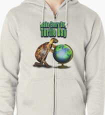 Turtle Day Zipped Hoodie