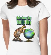 Turtle Day Women's Fitted T-Shirt