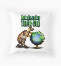 Turtle Day Throw Pillow