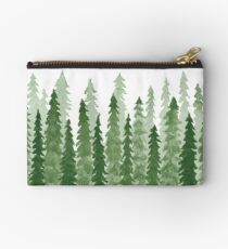 watercolor redwood trees Studio Pouch
