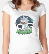 Rick And Morty Wrecked Women's Fitted Scoop T-Shirt