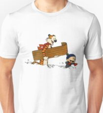 calvin and hobbes snow Unisex T-Shirt