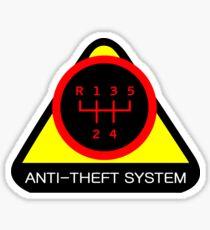 Anti-Theft System (Pattern 2) (dark) Sticker