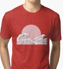 sun sunset and waves Tri-blend T-Shirt