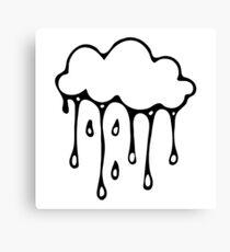 rain cloud white - babyfox Canvas Print
