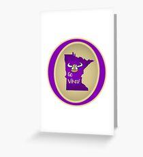 Vikings:  Purple & Gold! Greeting Card