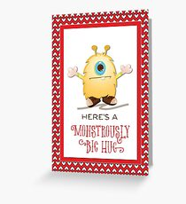 Any Name Monster Hug Valentine Hearts, Matthew Kids Greeting Card