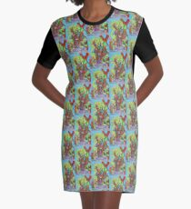 Apogee of an Apricot Tree Graphic T-Shirt Dress