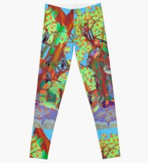 Apogee of an Apricot Tree Leggings