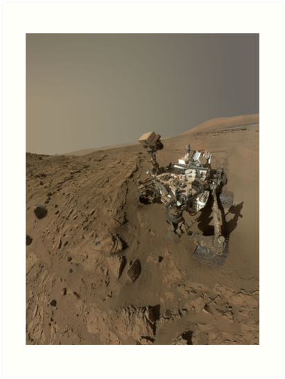 Mars Rover Curiosity Takes A Selfie - Planet Mars by verypeculiar
