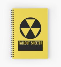 Fallout Shelter Sign Spiral Notebook