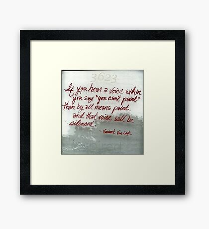 Quote By Vincent Van Gogh Framed Print