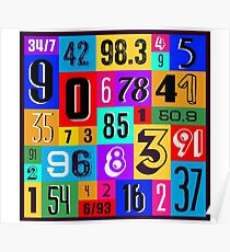 Number Tiles Poster