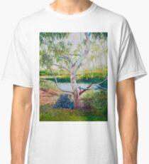 Darebin Parklands Boulder and Tree Classic T-Shirt