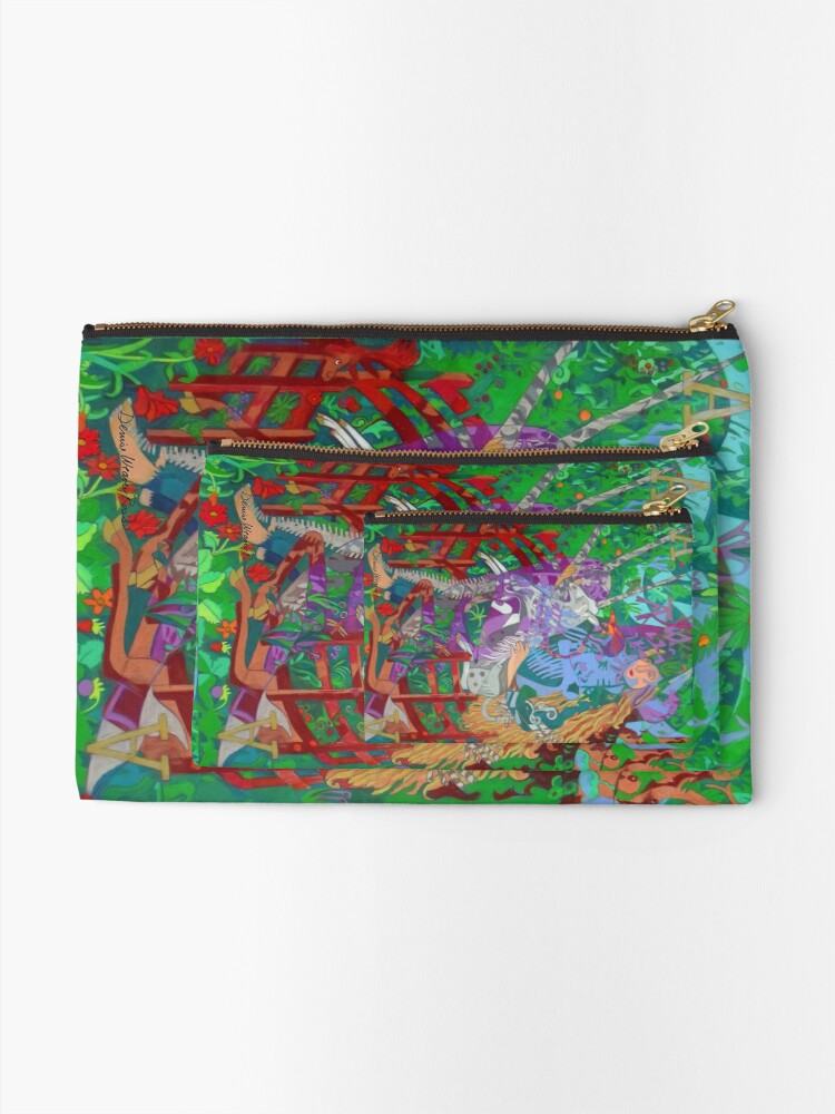 Alternate view of Archeology of the Unicorn Zipper Pouch