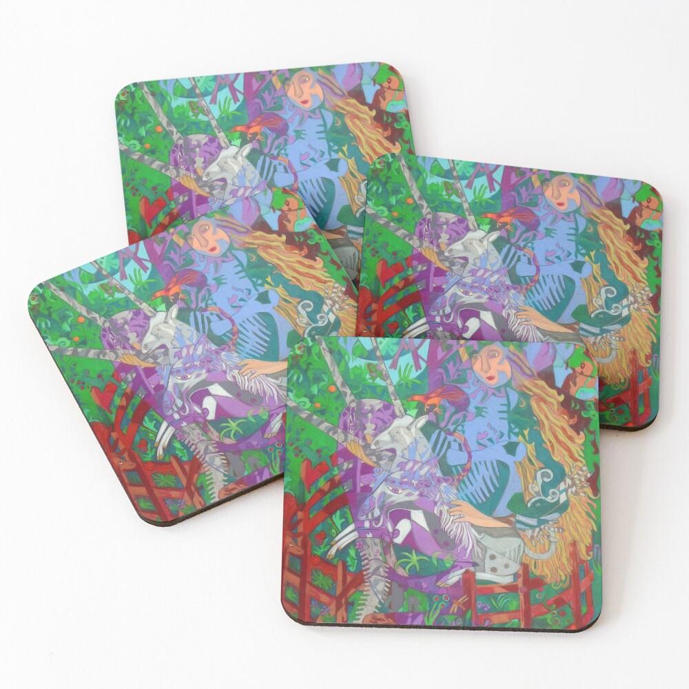 Archeology of the Unicorn Coasters (Set of 4)