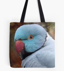 What You Looking At! - Blue Ringneck Parrot -  Tote Bag