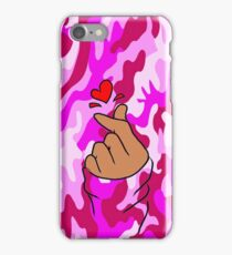 Heart Pink Military Camo ( StarlightDoodle and marcliss ) iPhone Case/Skin