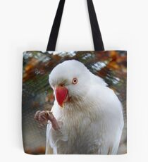 I Tell You, It Was This Small - Indian Ringneck Parrot - Gore Gardens Tote Bag