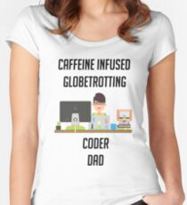 IT programmer dad tshirt geek dad shirt Women's Fitted Scoop T-Shirt