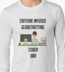 IT programmer dad tshirt geek dad shirt Long Sleeve T-Shirt