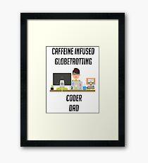 IT programmer dad tshirt geek dad shirt Framed Print