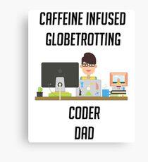IT programmer dad tshirt geek dad shirt Canvas Print