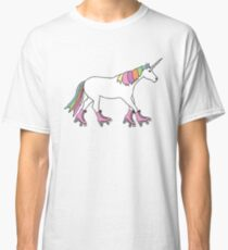 roller skating unicorn Classic T-Shirt