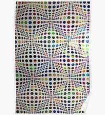 Homage (To Victor Vasarely) Poster