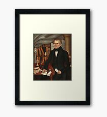 Vermont Lawyer Oil Painting by Horace Bundy Framed Print