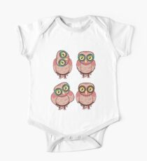 Curious Owl in Teal Glasses 2 One Piece - Short Sleeve
