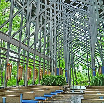 Inside Thorncrown Chapel by grmahyde
