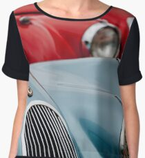 1950 Jaguar XK120 Roadsters -1366c Women's Chiffon Top