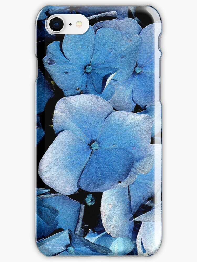 Blue Floral iPhone Cover by patjila