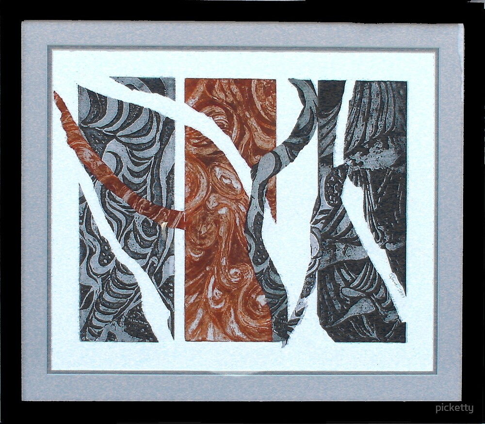 collographs unittled by picketty