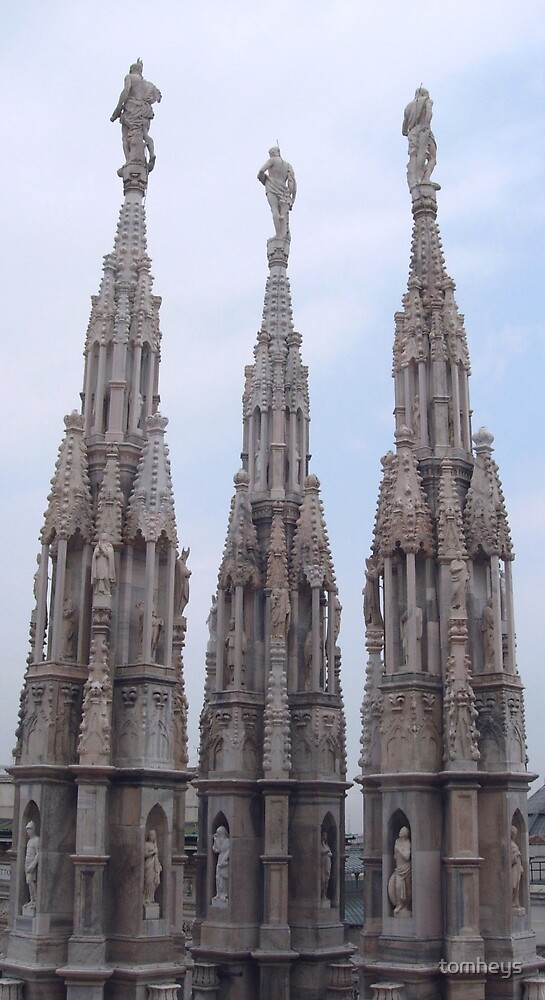 Three Spires on the Duomo by tomheys