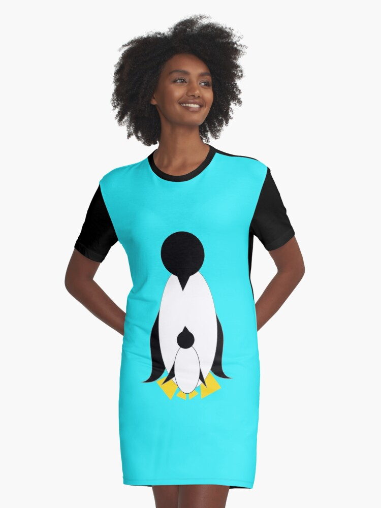 Happy penguins Graphic T-Shirt Dress Front