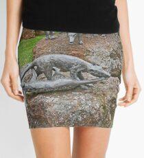 Thylacine Sculpture Mini Skirt
