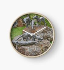 Thylacine Sculpture Clock