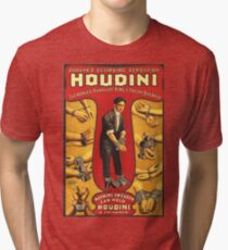 Houdini, vintage theater poster - color Tri-blend T-Shirt