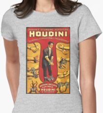 Houdini, vintage theater poster - color Womens Fitted T-Shirt