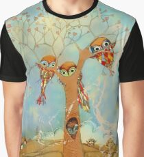 tree of love owls Graphic T-Shirt