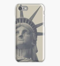statue of liberty in gray iPhone Case/Skin