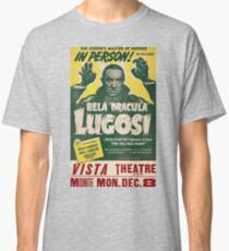 Dracula, vintage horror theater, movie poster Classic T-Shirt
